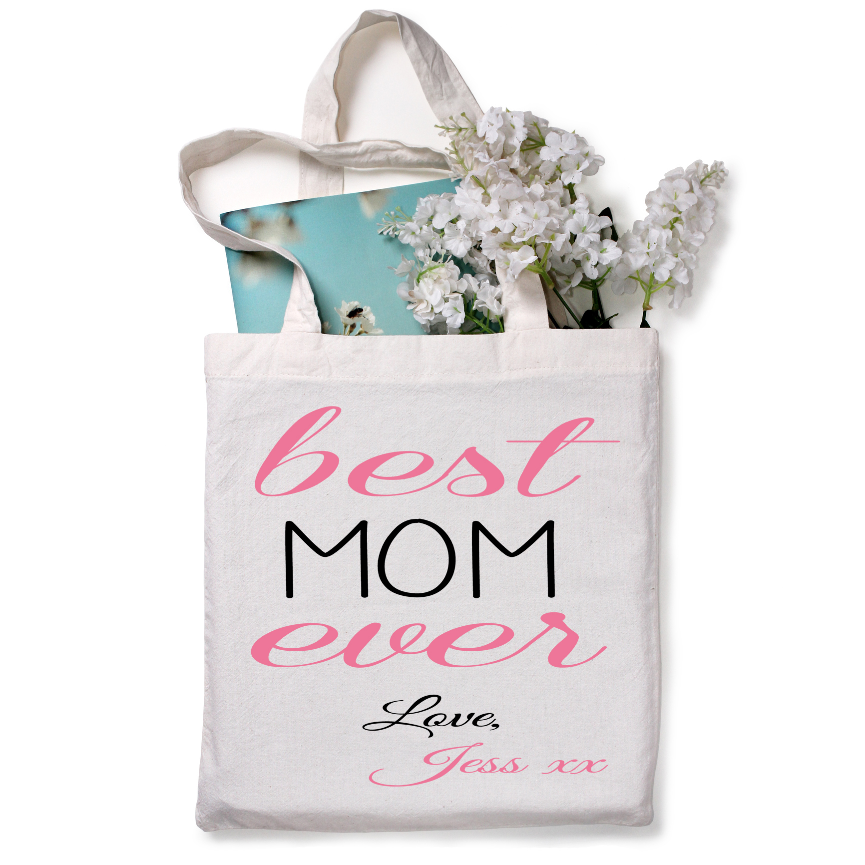 Personalized best mom ever tote bag gift ideas for moms
