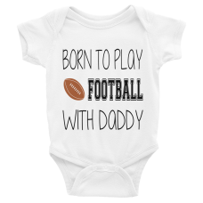personalized baby onesie with sports on it